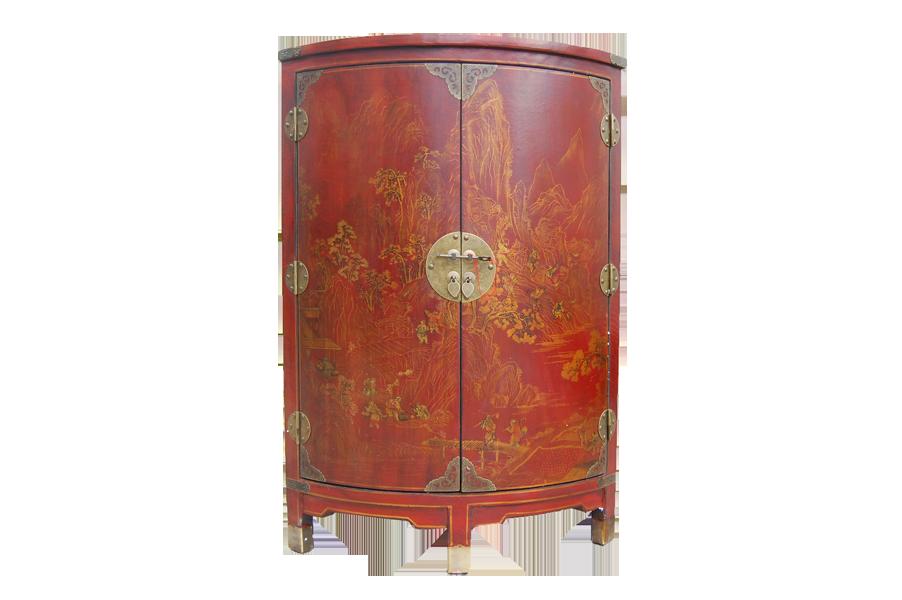 pin meuble dangle en aspect cuir mdf coloris rouge motifs asiatiques 2 on pinterest. Black Bedroom Furniture Sets. Home Design Ideas